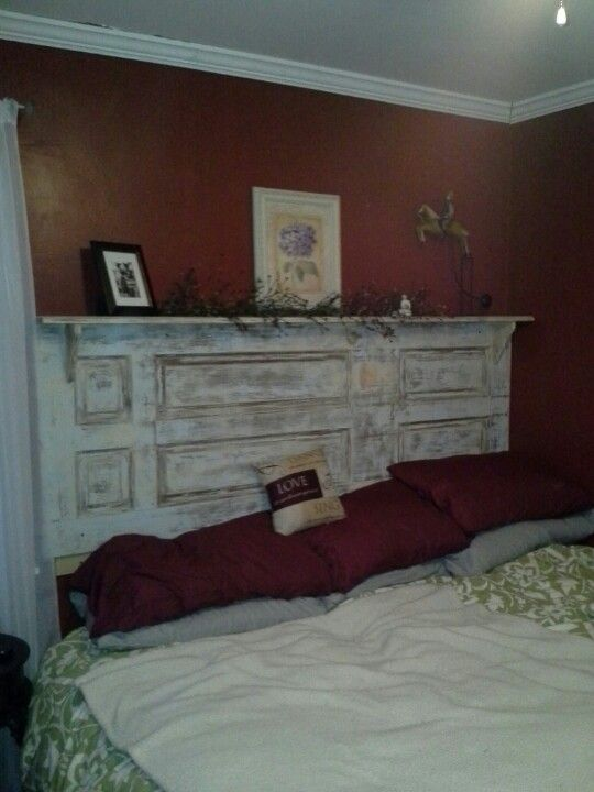 Fantastisch Old Closet Door Turned Into King Size Headboard