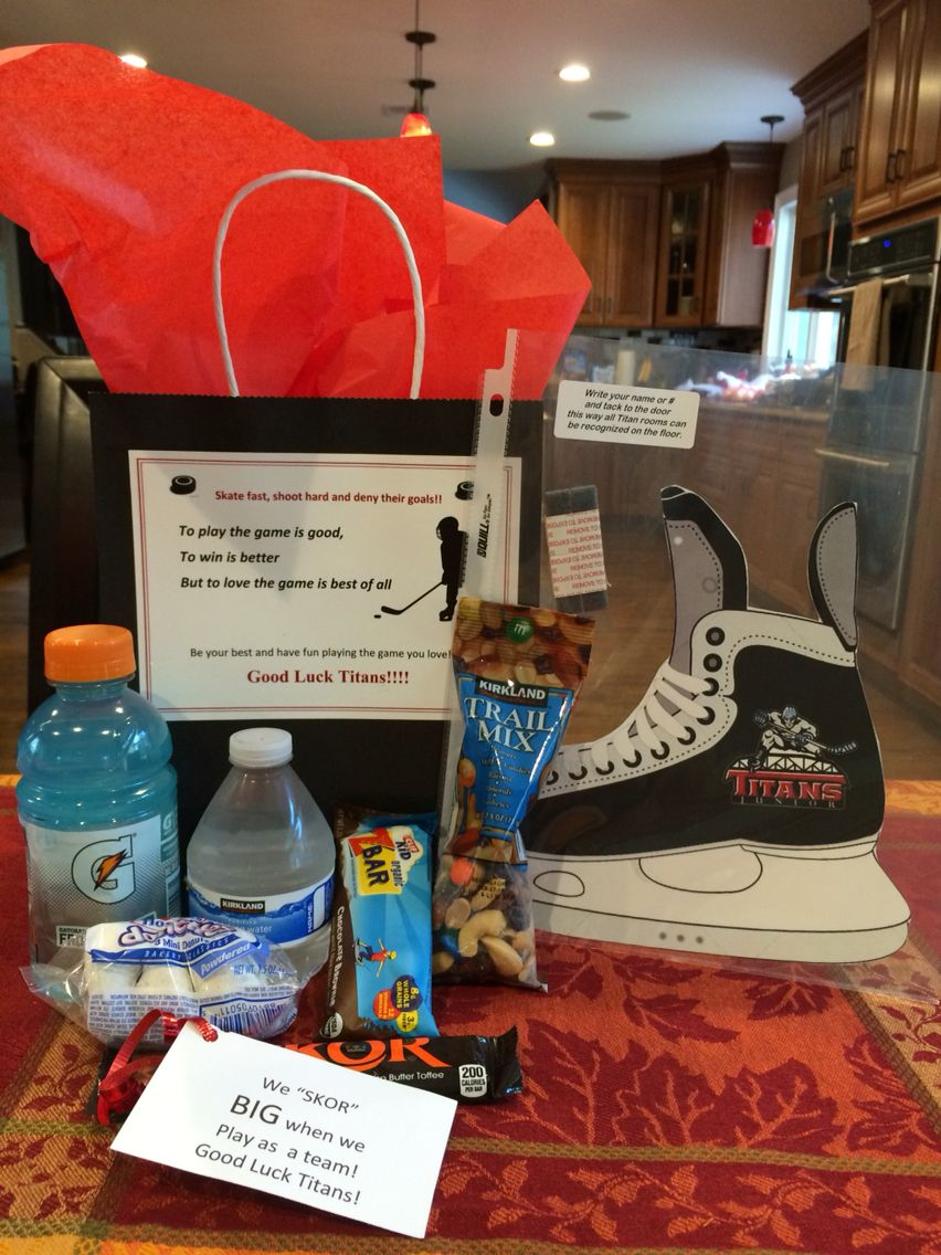 Hockey Team Gift Bag For Tournament Hotel Stays This Was