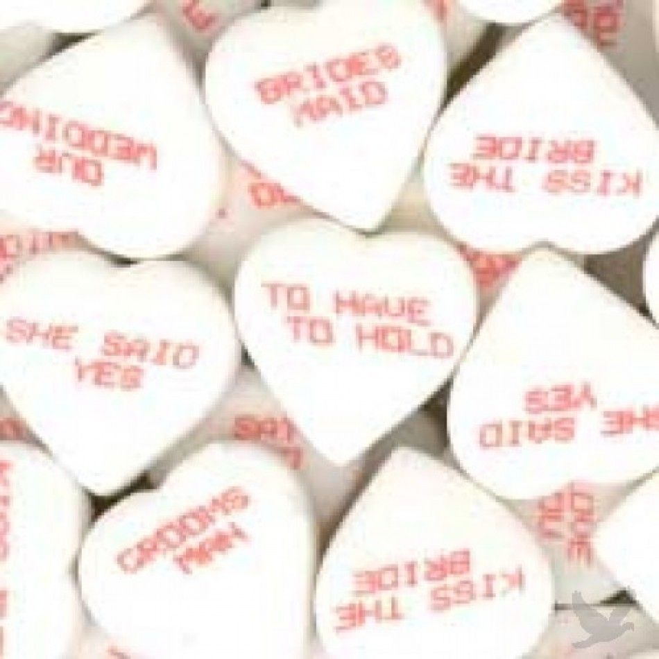 Wedding Conversation Hearts Candy BULK 15002 | Wedding Ideas ...