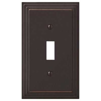 Hampton Bay Tiered 1 Gang Toggle Wall Plate Oil Rubbed