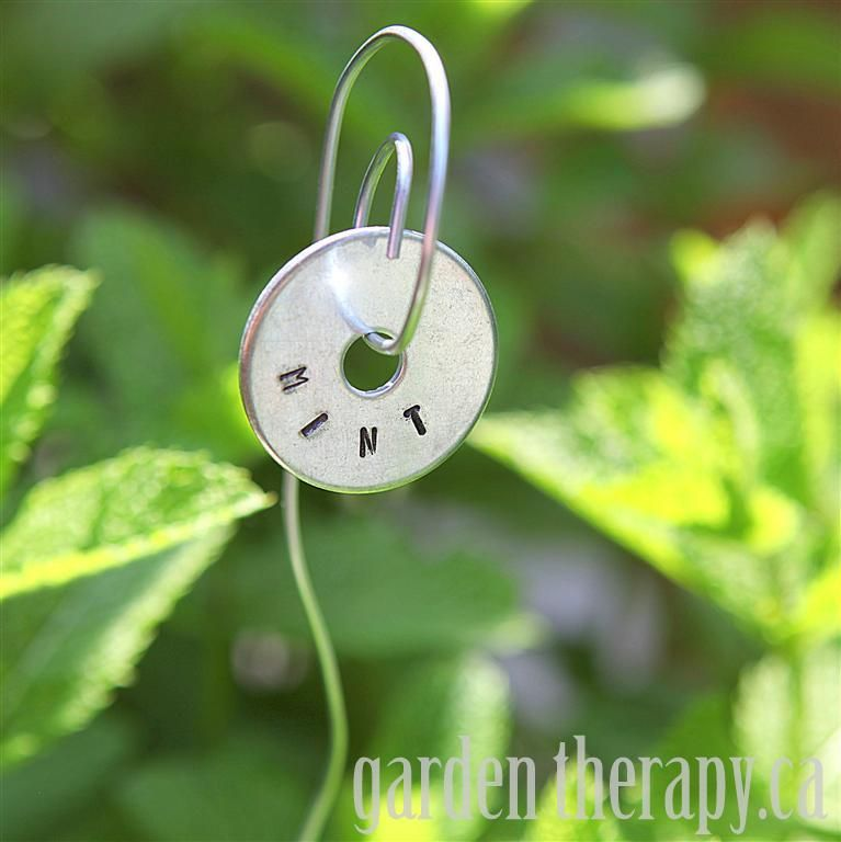 #Metal Stamped #Plant Labels - #DIY  (via Garden Therapy)