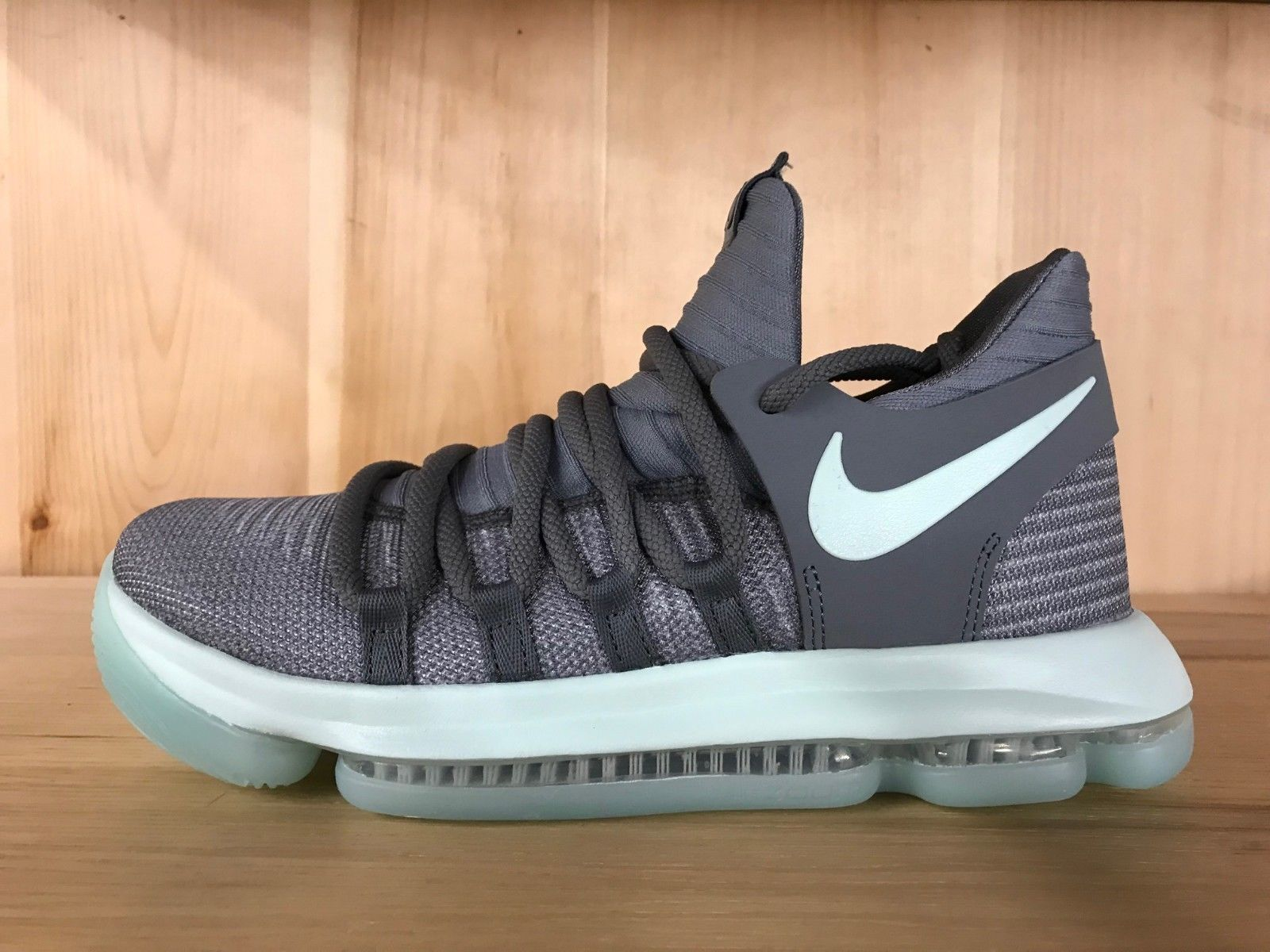 size 40 01a3e 7cea5 NIKE ZOOM KD 10 COOL GREY IGLOO WHITE KEVIN DURANT GS SZ 4-7 ...