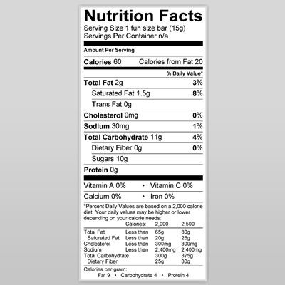 Three Musketeers Does Have A Lot Of Sugar But If You Want One I Am Sure You Will Enjoy It You Would Be Eating Less Nutrition Facts Nutrition Labels Nutrition