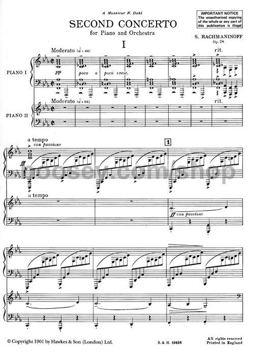 Rachmaninoff Piano Concerto 2 First Page Of My Favorite Piano Concerto Music Book What Is Classical Music Rachmaninoff