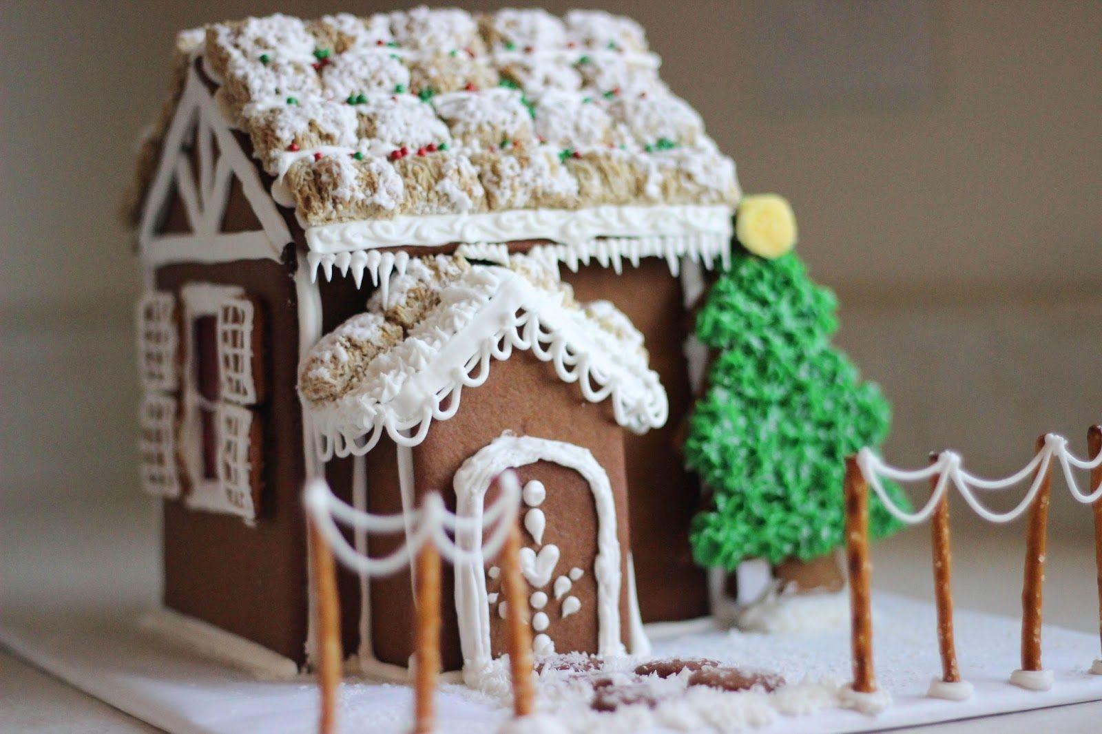 Gingerbread Houses Free Printable Pattern