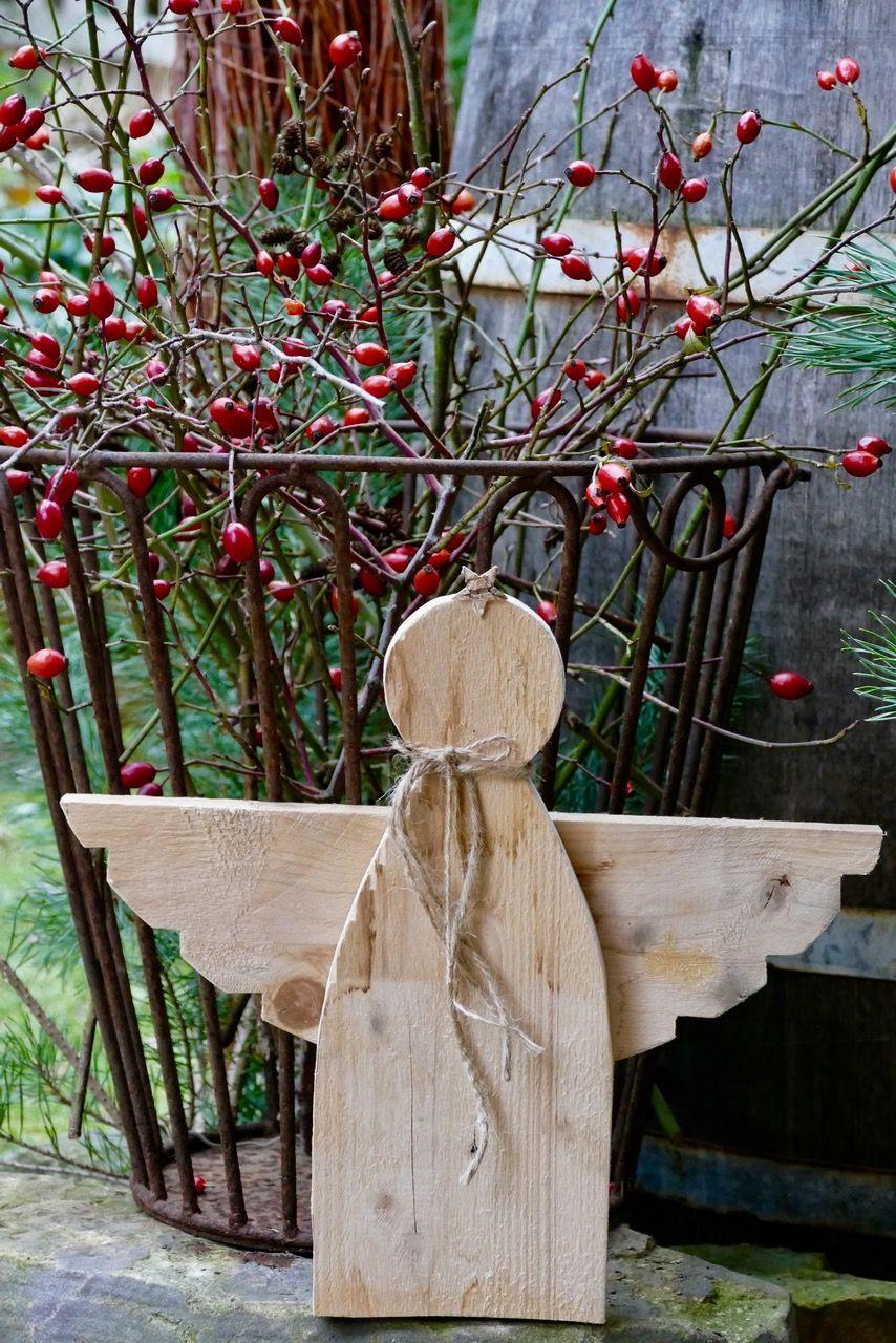 rustikaler palettenholz-engel | basteln