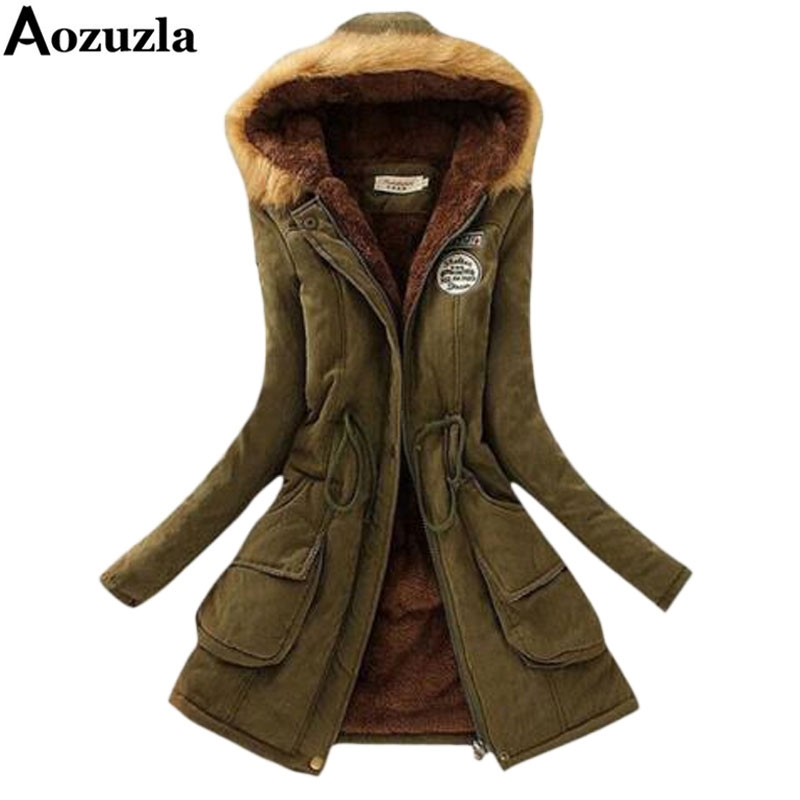 23.03$  Buy here - http://alivxv.shopchina.info/go.php?t=32677341872 - Winter Jacket Women 2017 Hooded Long Femme Woman Clothes Casual Outwear Military Coat Solid Slim Fur Collar Women Overcoat Y112 23.03$ #aliexpresschina