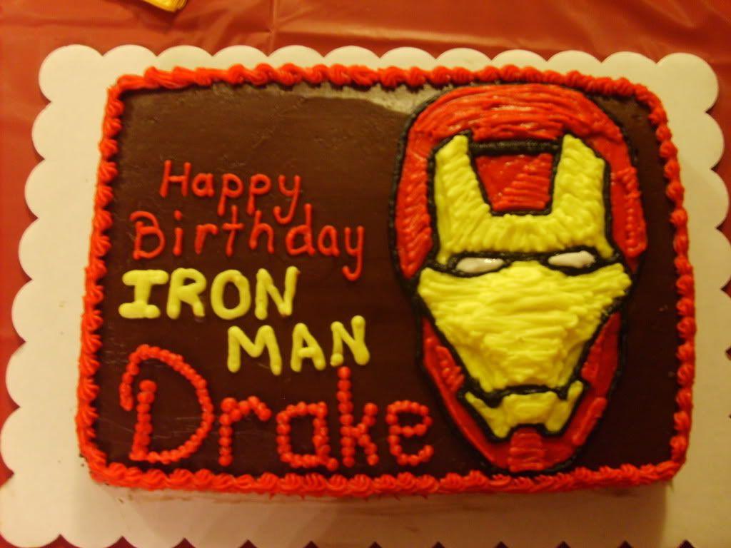 Avengers Cartoon Brthday Cakes Ironman Birthday Cake Toby Cake