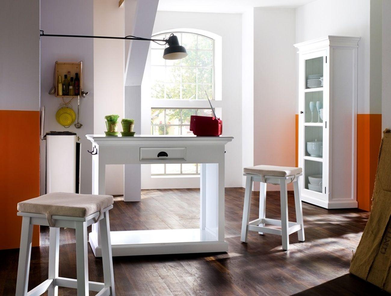 Küchentheke HALIFAX mit 2 Hocker & Polster von Nova Solo I ...