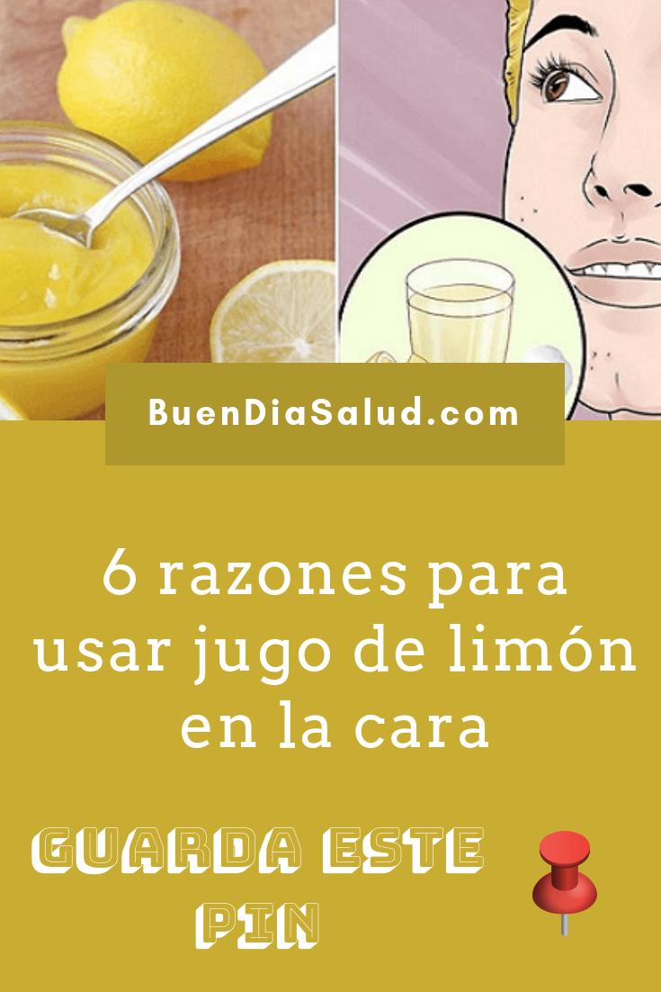 jugo de limon en la cara