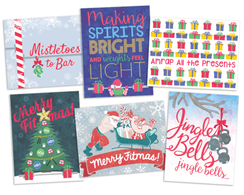 Fitness holiday card bundle these cards are totally unique coach items similar to crossfit christmas holiday cards bundle fitness christmas gift holiday cards on etsy m4hsunfo