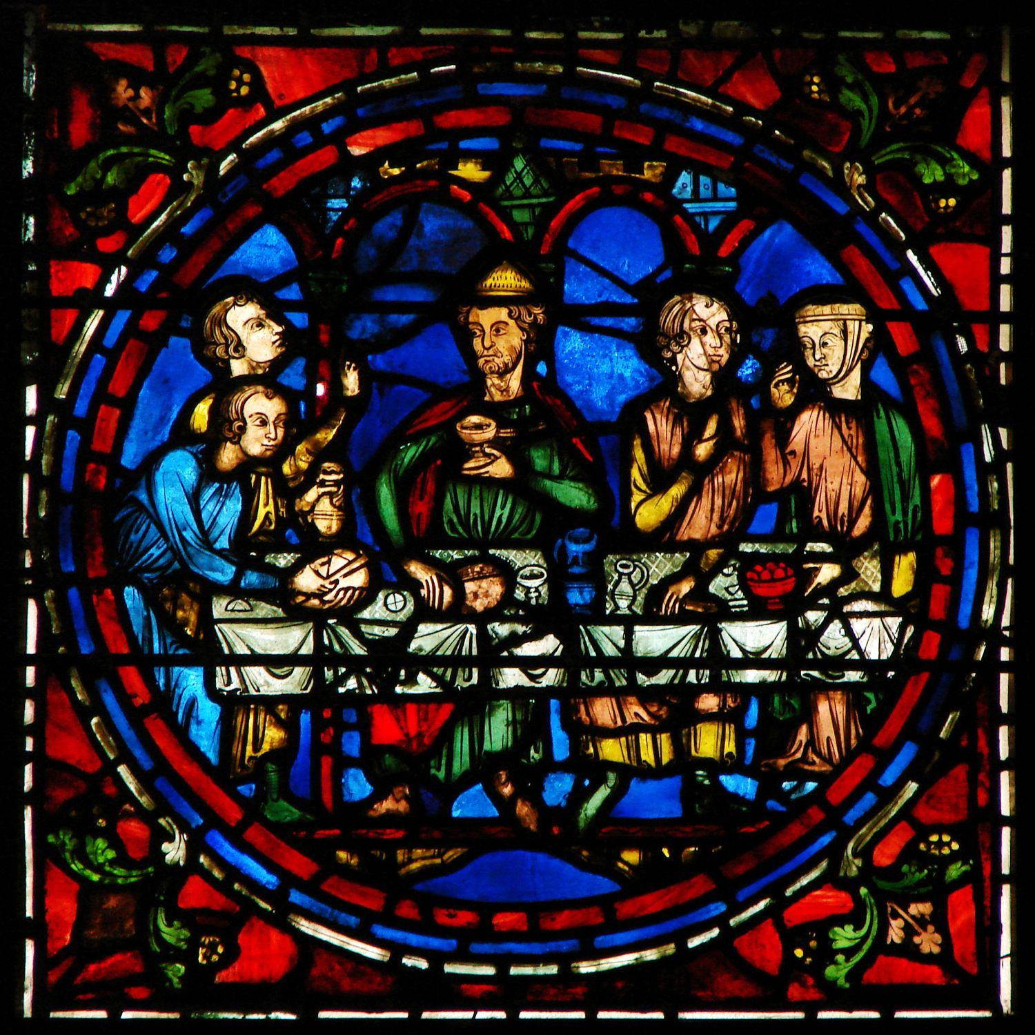 Cana Windows Marriage At Cana Window Of Chartres Cathedral By Unknown Artist