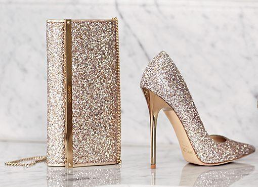 6d79d58f3ac The new Jimmy Choo glitter Bridal pieces  handbagsandclutches ...
