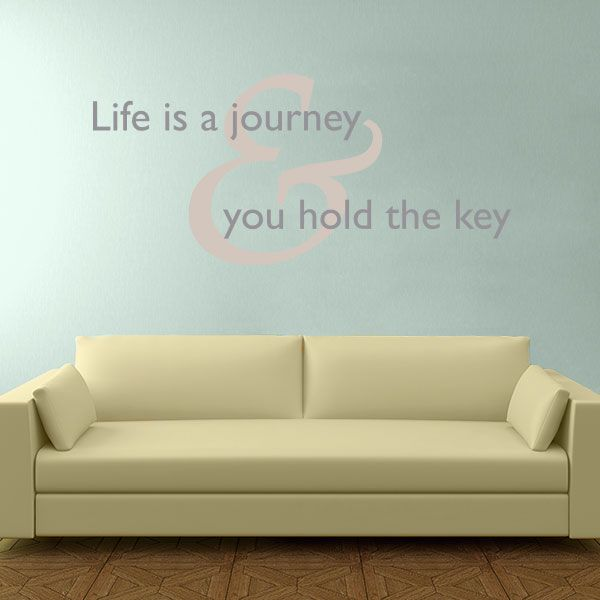 Life is a Journey Quote Wall Decal | Journey quotes, Quote wall ...