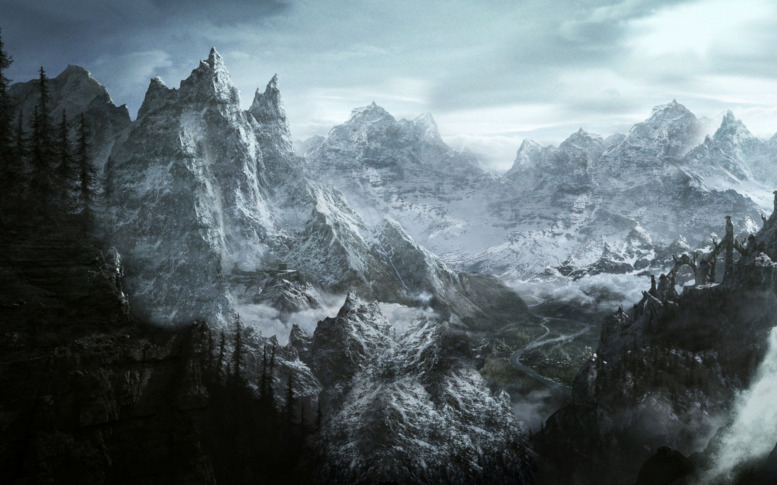 Pin by Olivia on Wallpapers Skyrim wallpaper, Skyrim map