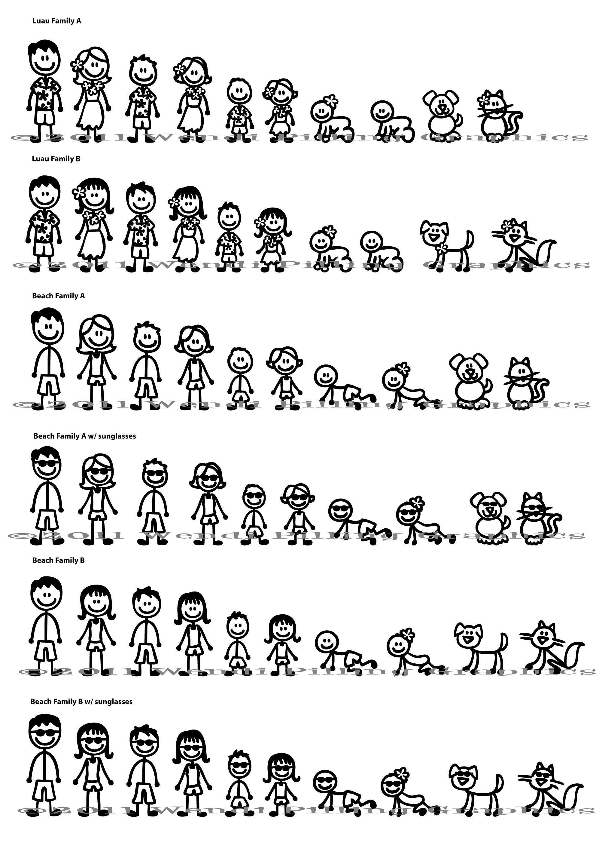 Stick Figure Family Window Decals Stick Figure Family Stick Figures Stick Family [ 2800 x 1994 Pixel ]
