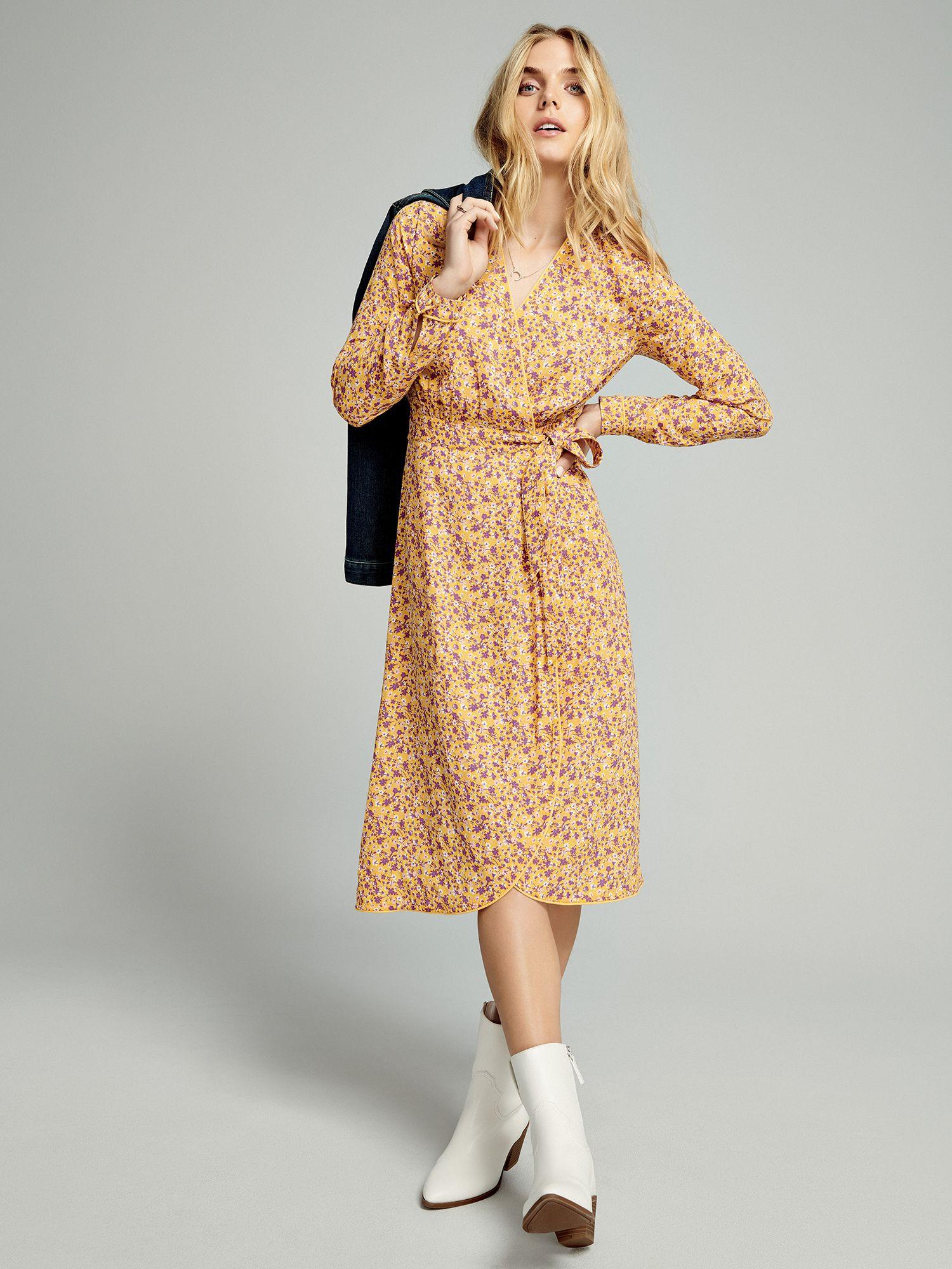 Time And Tru Time And Tru Women S Long Sleeve Faux Wrap Dress Walmart Com Wrap Dress Faux Wrap Dress Dresses [ 2000 x 1500 Pixel ]