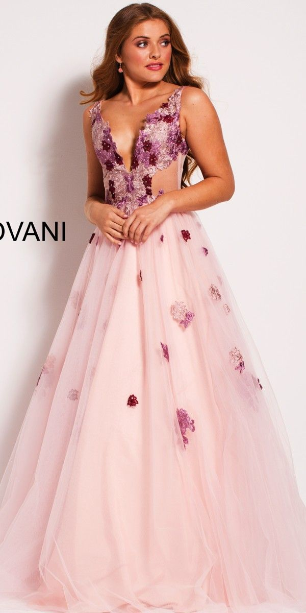 Blush Pink Tulle Ball Gown 52207 - Jovani - 52207 (Golden Asp ...