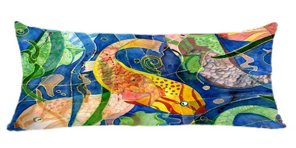Tropical fish body pillow case