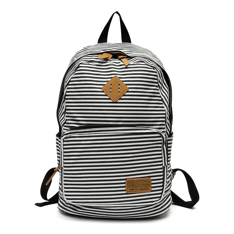 4fa811cf41cc OURBAG Women Canvas Backpacks Lightweight Laptop School Bag Cute ...