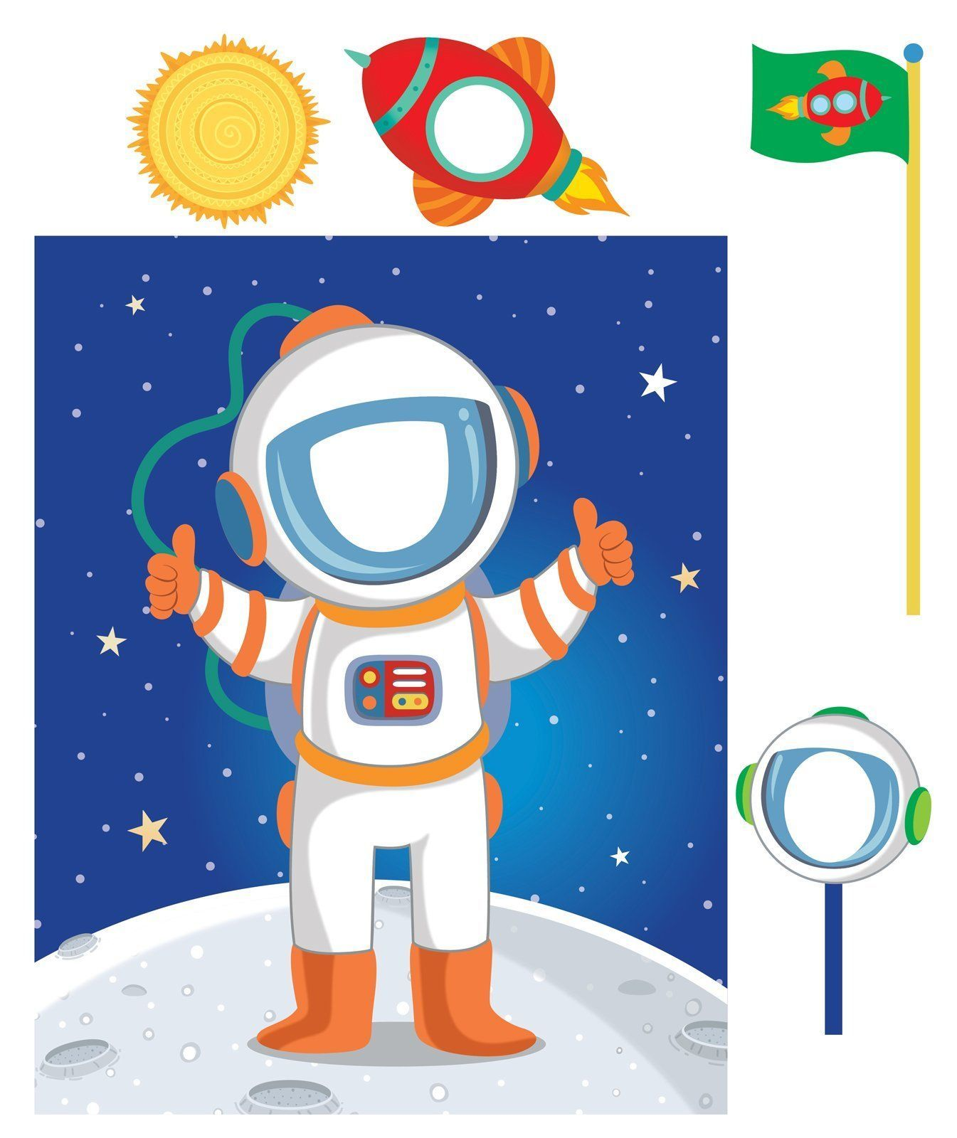 astronaut party supplies - HD1345×1600
