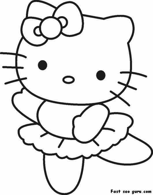 Print Out Hello Kitty Ballet Dancer Coloring In Sheet Anney's Baby Rhpinterest: Hello Kitty Coloring Pages Shower At Baymontmadison.com
