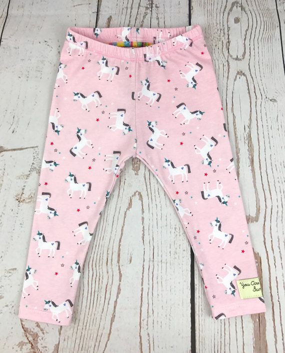 33acb5fe07df4a Pink Unicorn Print Baby Leggings - Toddler Leggings - Kids Leggings ...
