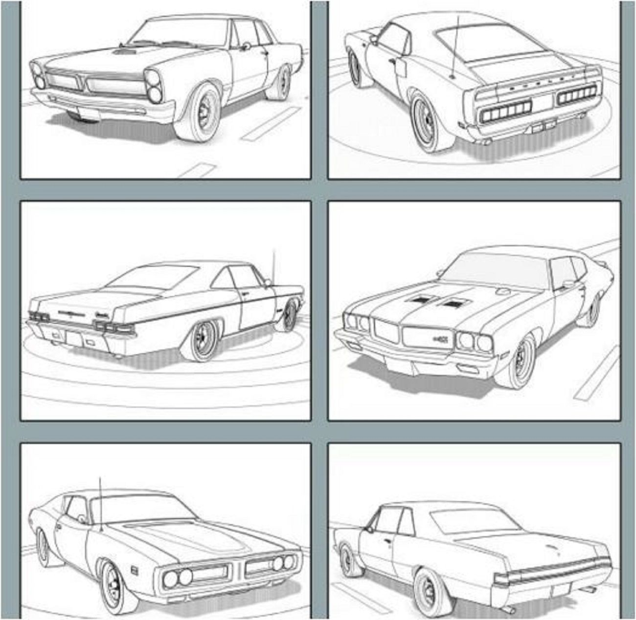 American Muscle Cars Coloring Book By Alexander Duval And Happy 2016 Paperback