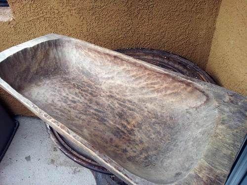 36 Large Wood Dough Bowl Trencher Primitive