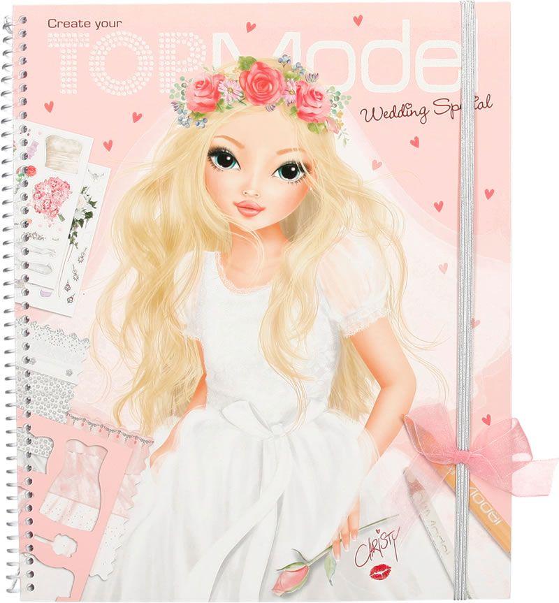 Topmodel malbuch create your topmodel wedding special christy bei papiton bestellen topmodel - Top model livre de dessin ...