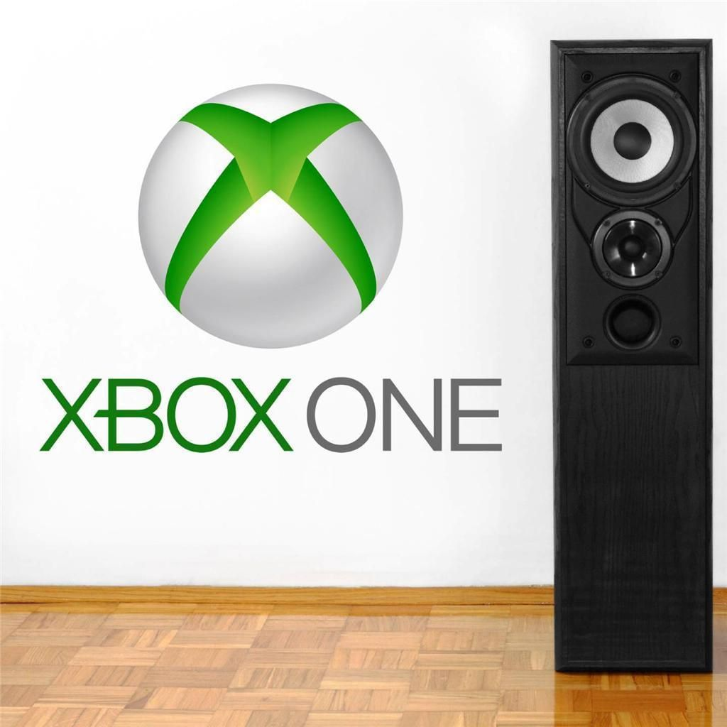 Xbox One Logo Decal Removable Wall Sticker Home Decor Art Video Game