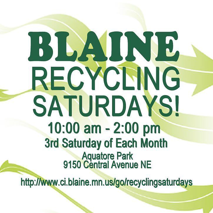 The next #BlaineRecyclingSaturday is Saturday Sept. 19  http://ow.ly/JHGpc #pin