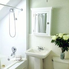 Behr Mountain Haze Paint Color Traditional Bathroom