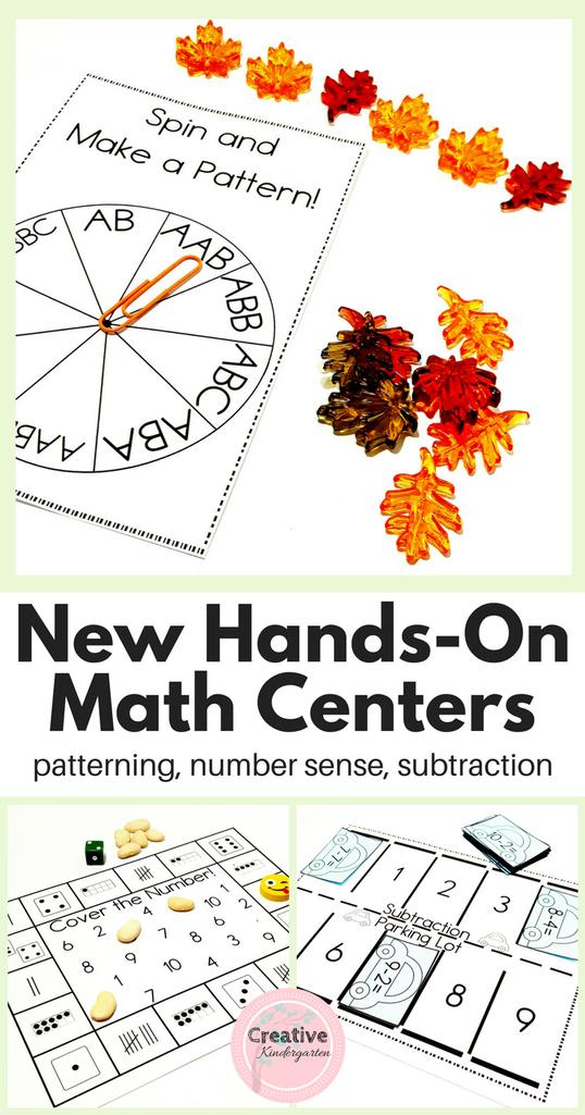 New Hands-On Math Centers!   Pre-school, Maths and Kindergarten math