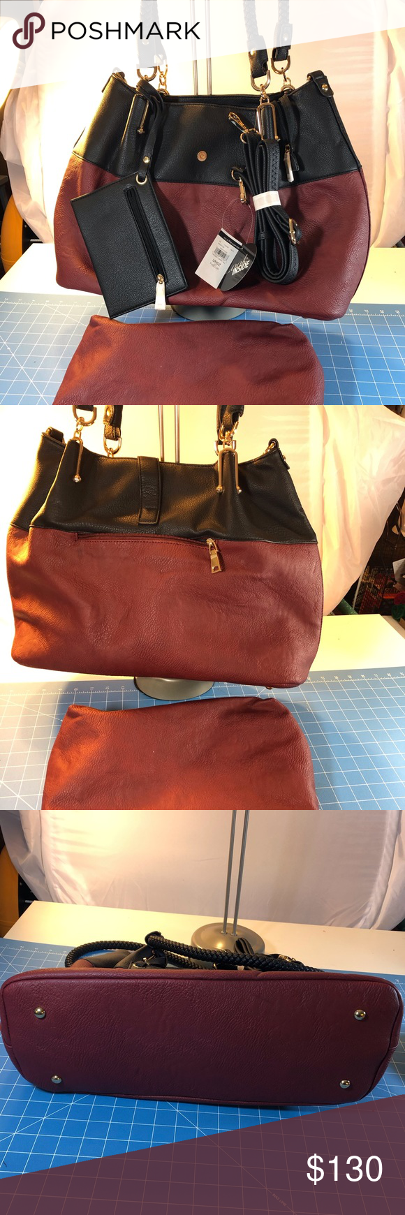 WILSON Leather 3 in 1 carry all Handbag NWT Wilson Leather
