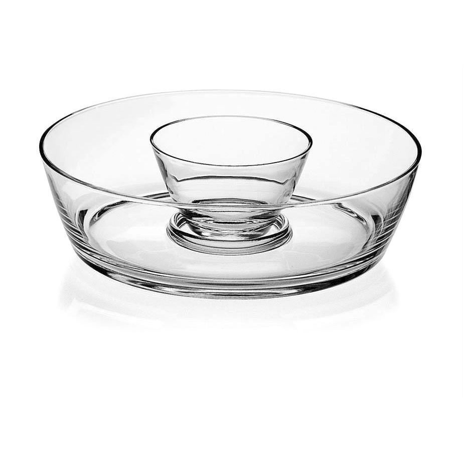 Majestic Gifts Clear Glass Chip And Dip Bowl (Clear)
