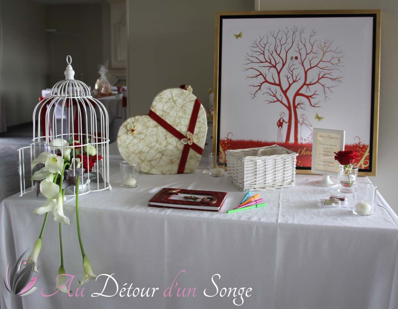 d coration table mariage rouge et blanc fashion designs. Black Bedroom Furniture Sets. Home Design Ideas