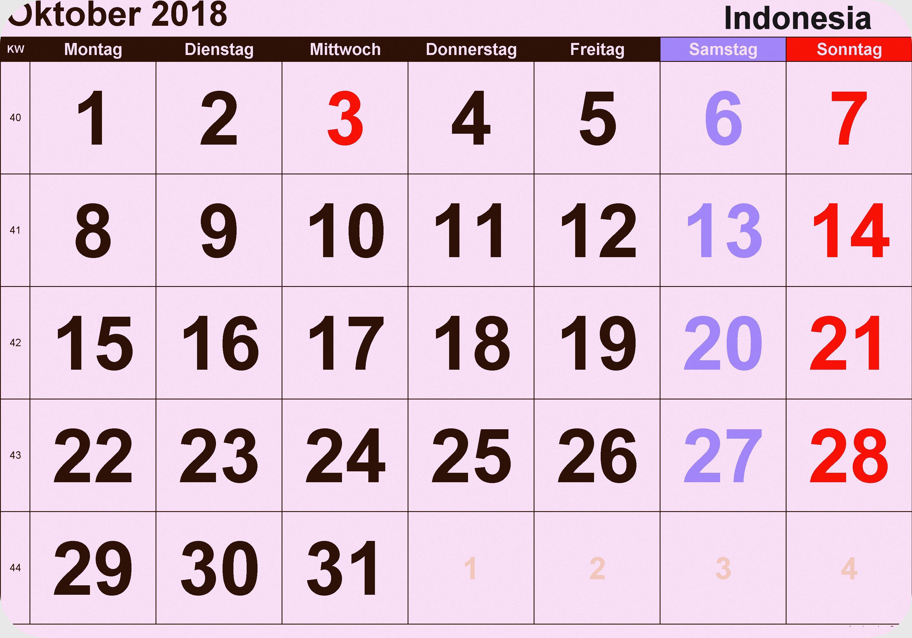 kalender oktober 2018 indonesia oktober indonesia calendar