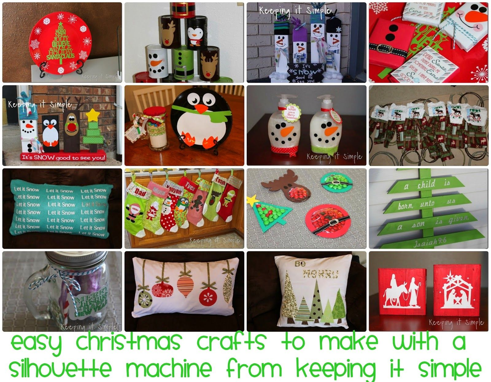 Easy Christmas Crafts To Make With A Silhouette Cutting Machine