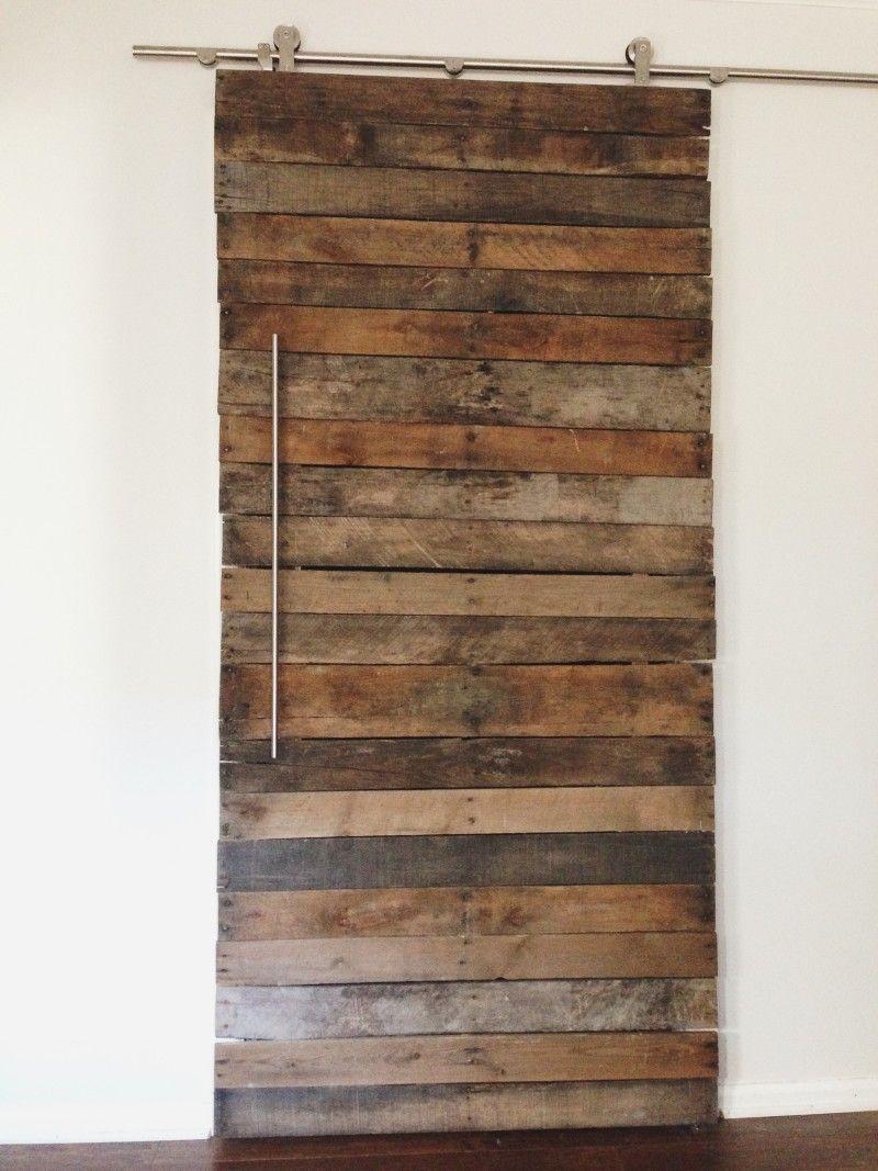 DIY Pallet Wood Door   Pallet diy, Wood pallets