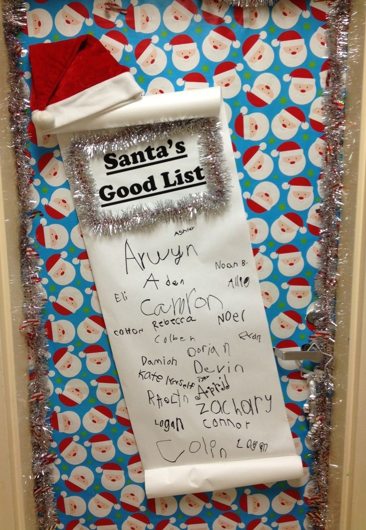 Classroom Theme Ideas List ~ Christmas classroom door for
