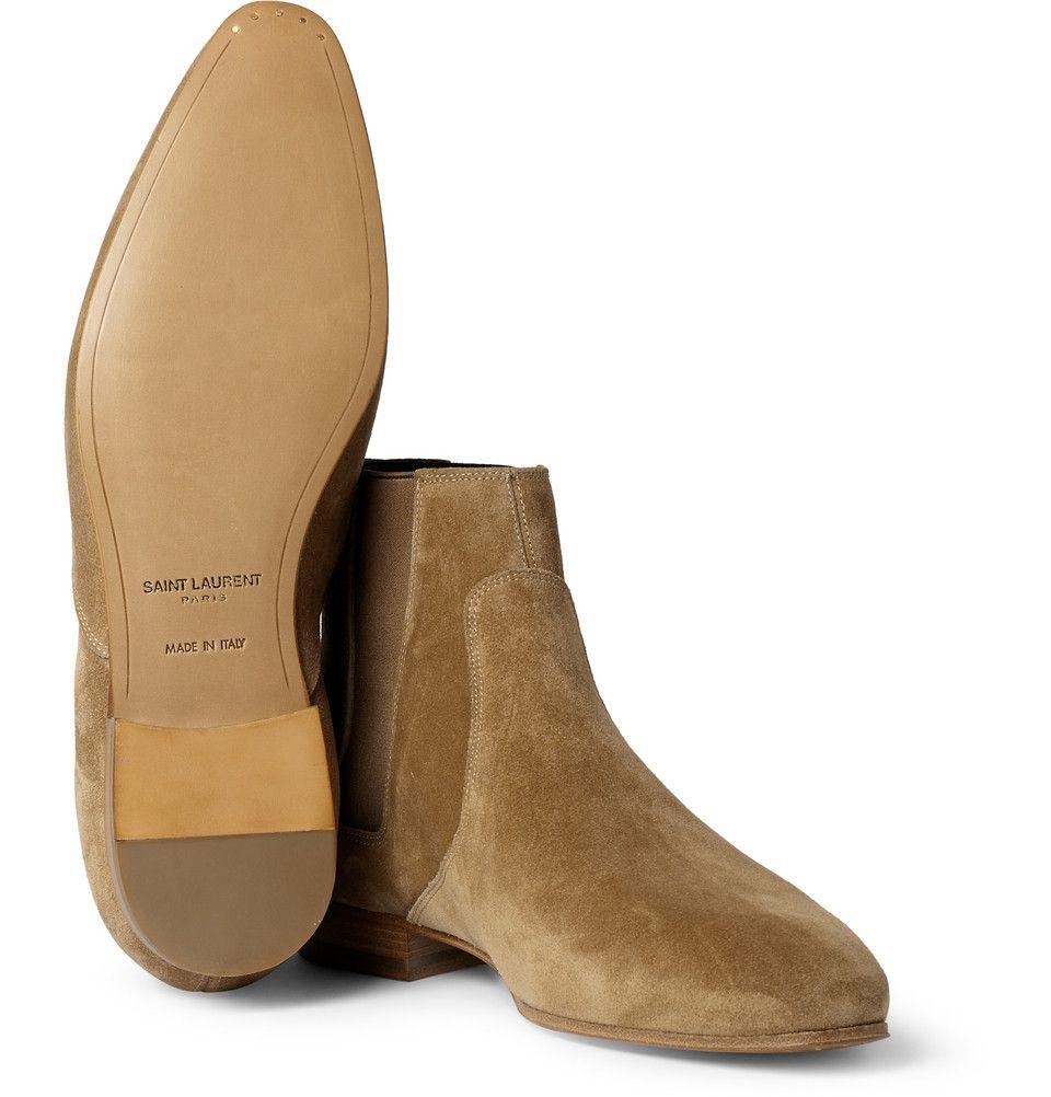 0b45bca9ef118e Saint Laurent Suede Chelsea Boots