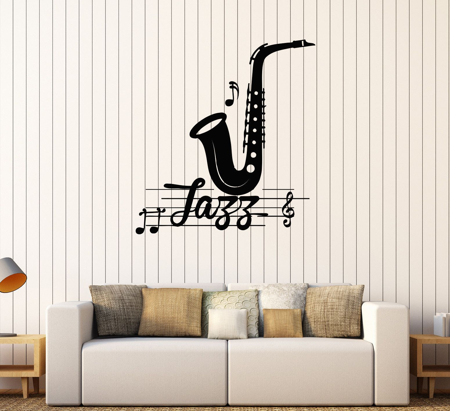 Vinyl Wall Decal Jazz Music Musical Room Decoration Stickers Mural