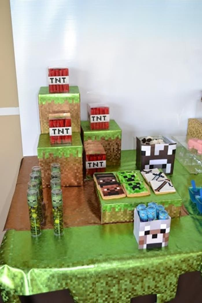 Minecraft Themed Birthday Party via Karas Party Ideas Kara