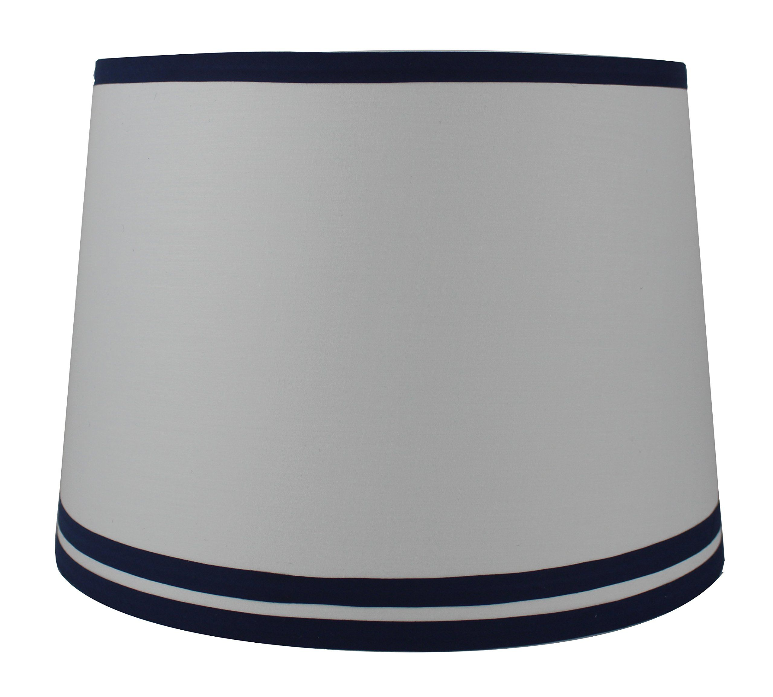 Urbanest White With Double Trim French Drum Lampshade 12inch By 14inch By 10inch Navy Blue Spider You Can Find More Details Drum Lampshade Lamp Shades Lamp