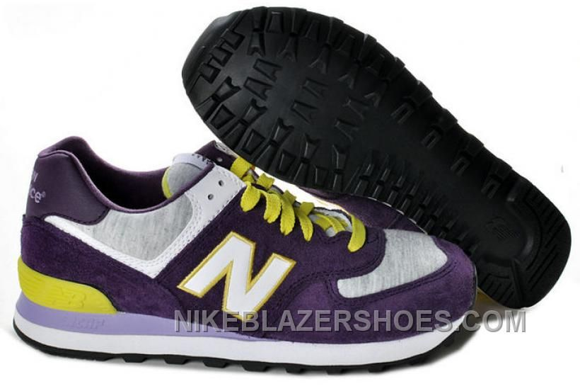 purple and yellow new balance 574