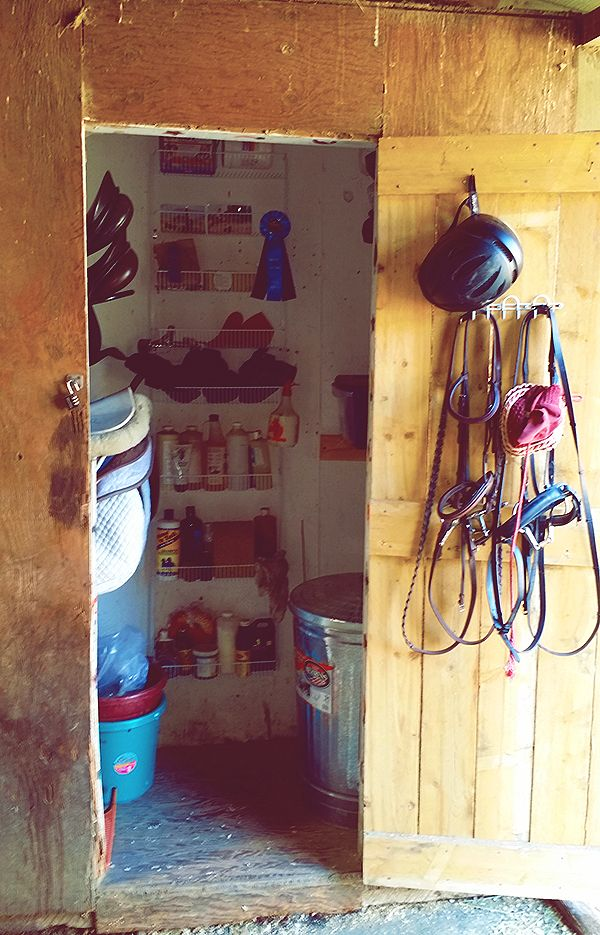 Organization For Tack Room Simple Cheap Bridle Hooks And Hanging Basket From Home Depot Tack Room Tack Room Organization Room Organization Diy