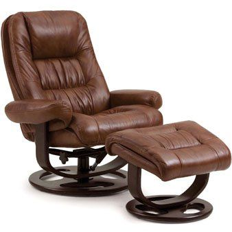 Sale Lane Andre Leather Recliner And Ottoman In Tri Tone Whiskey