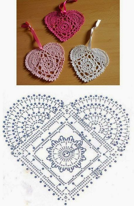 Patrón de corazón de ganchillo | kah | Pinterest | Patrones de ...