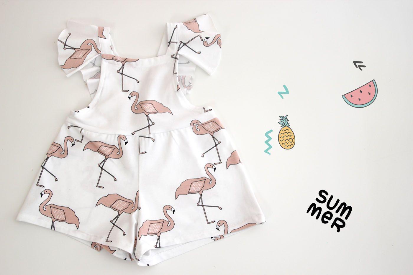 DIY Costura y patrones mono de flamencos (ropa para niños) | | Oh ...